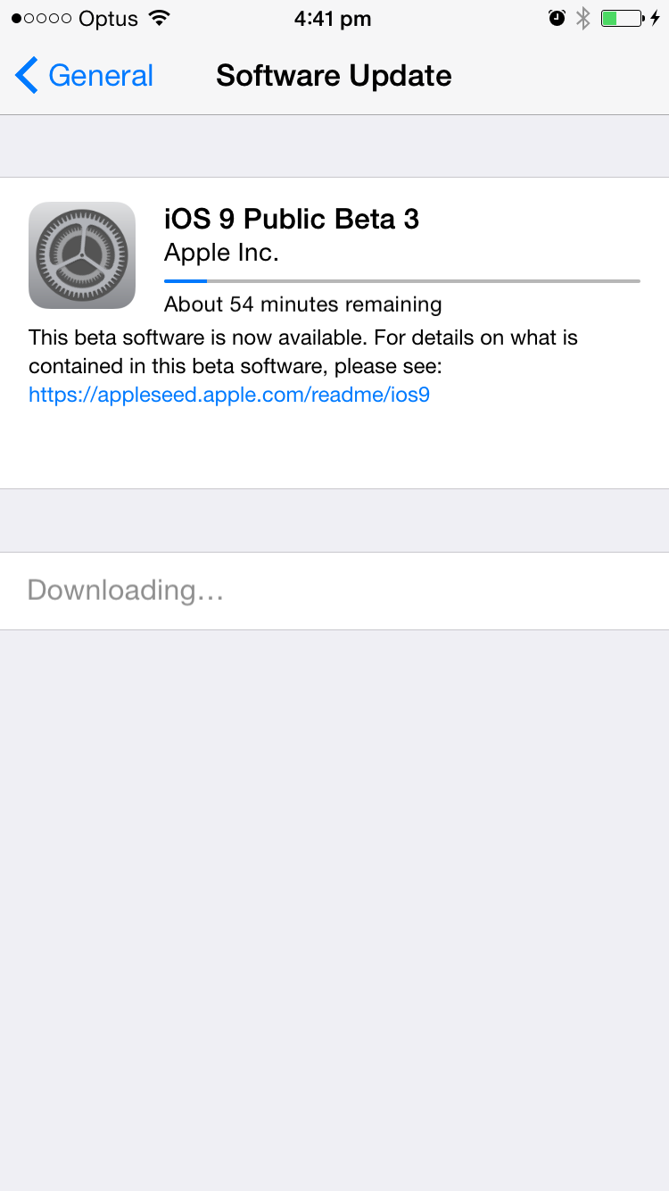 Downloading iOS9