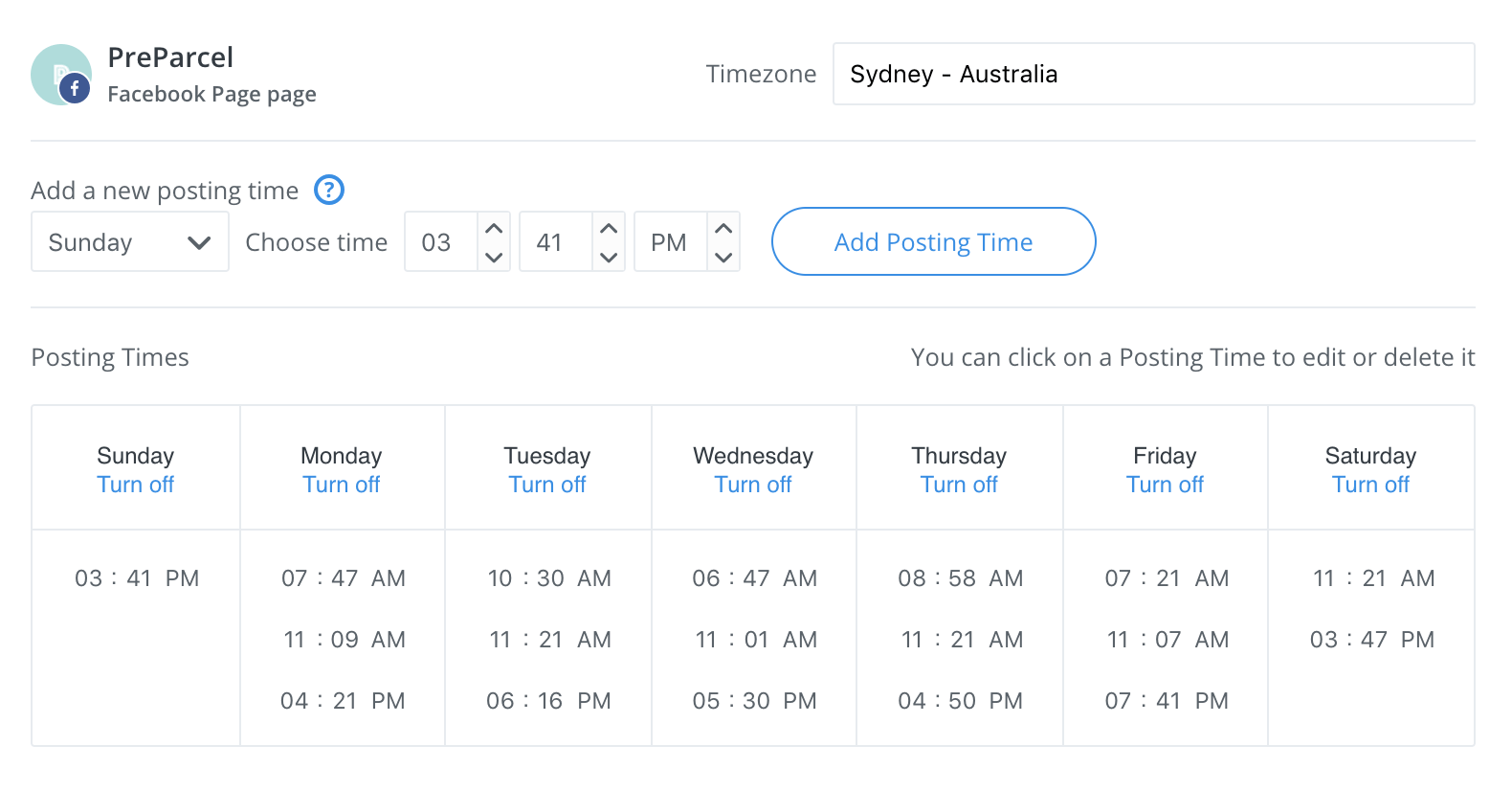Buffer posting schedule