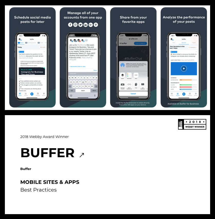 Buffer and The Webby Awards