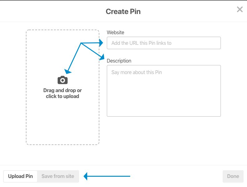 Create a Pin for Pinterest